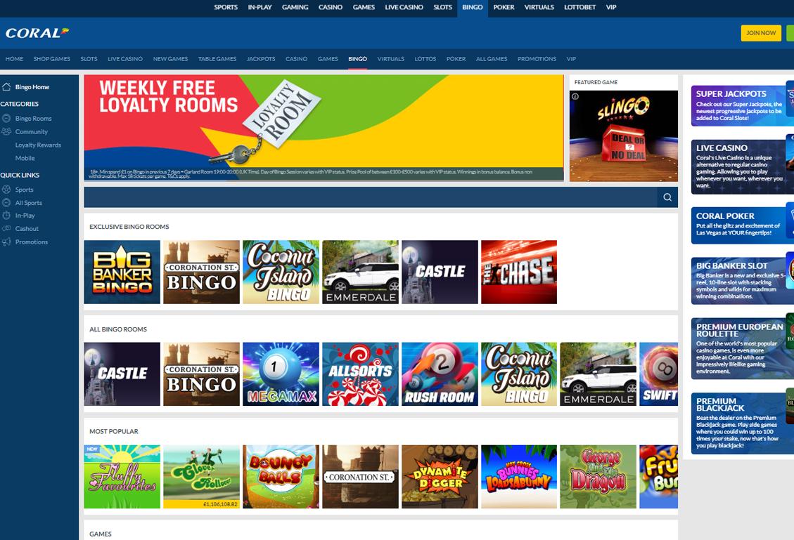 Coral Bingo Screenshot