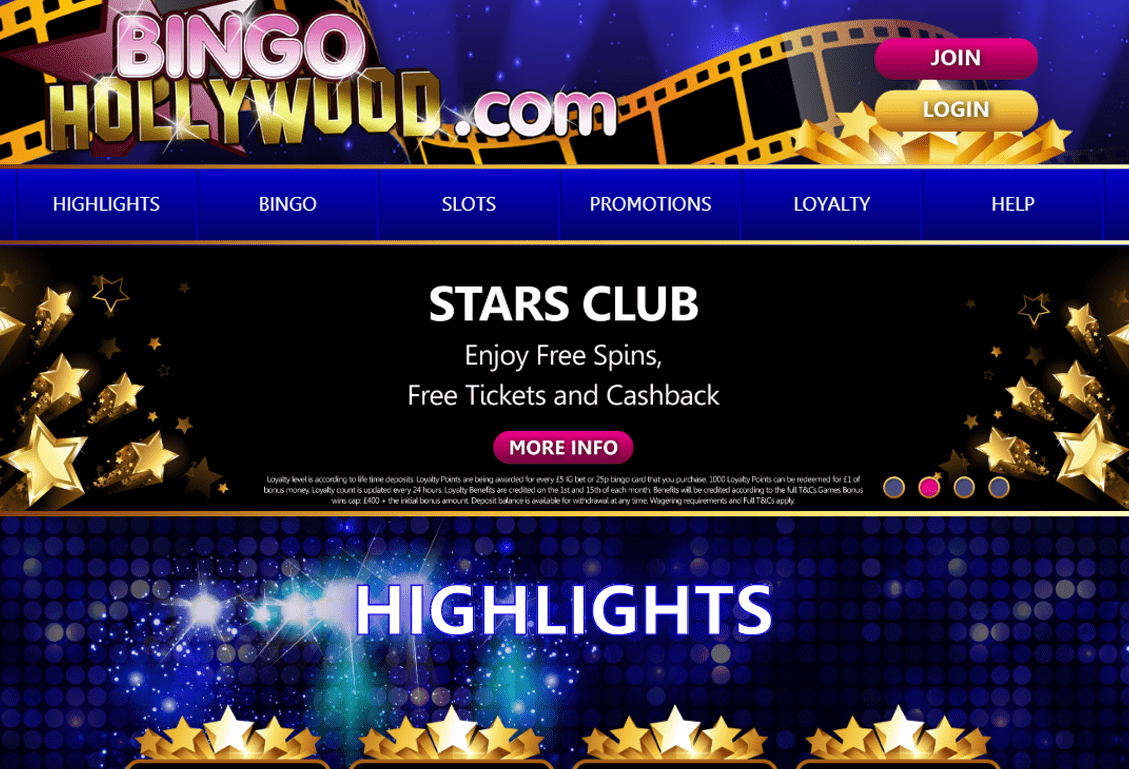 Bingo Hollywood Screenshot