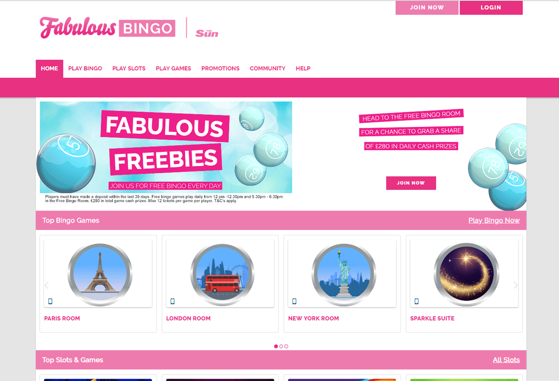Fabulous Bingo Screenshot