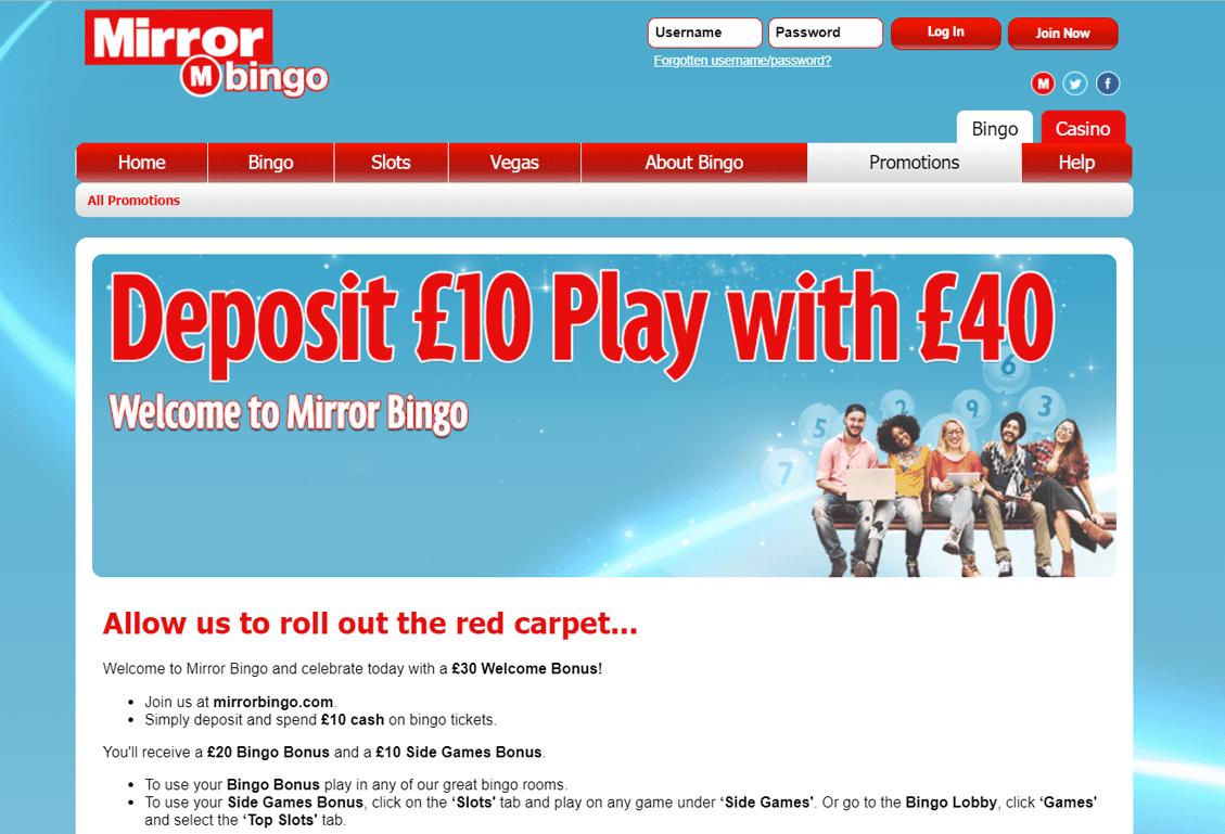 Mirror Bingo Screenshot