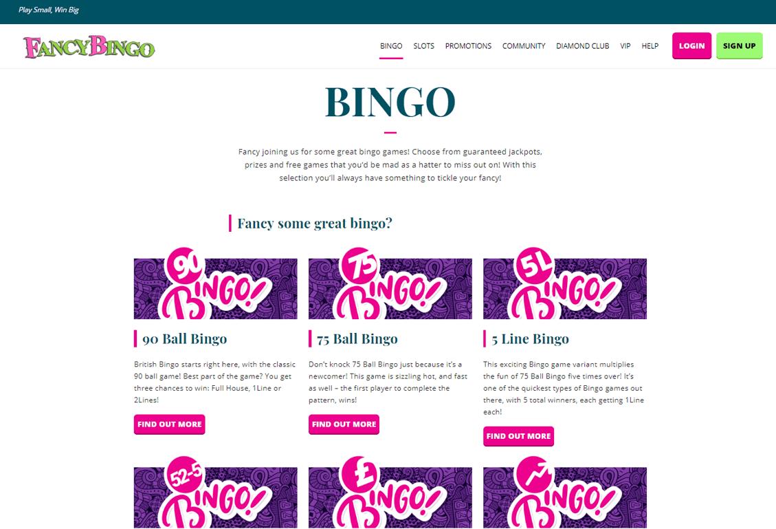 Fancy Bingo Screenshot