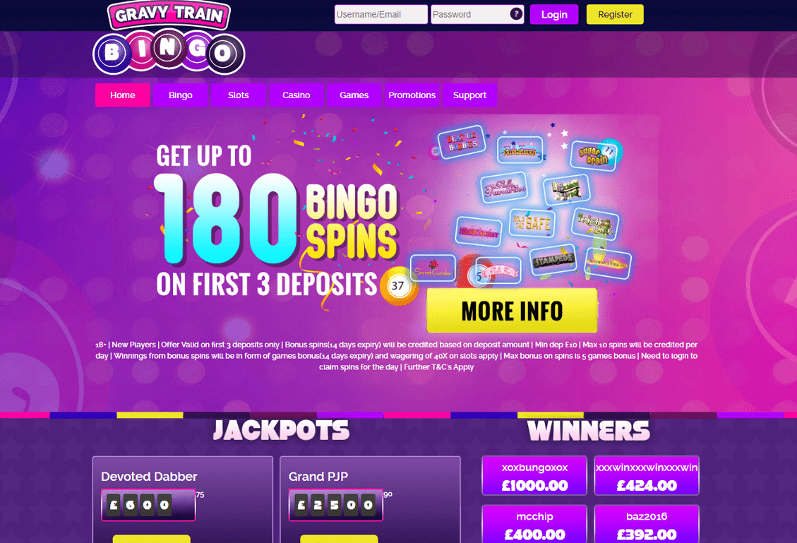 Gravy Train Bingo Screenshot