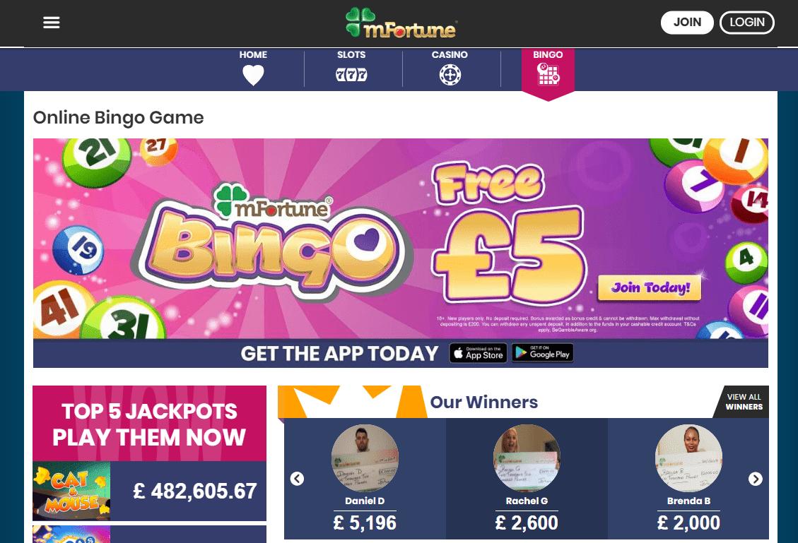 Mfortune Bingo Screenshot