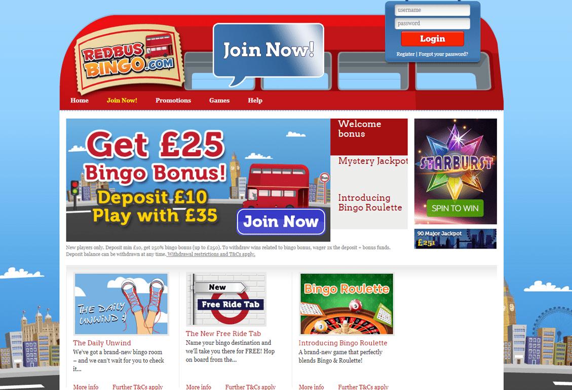 Red Bus Bingo Screenshot