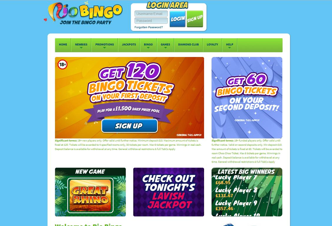 Rio Bingo Screenshot