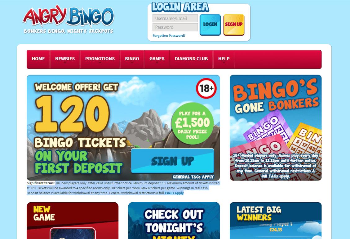 Angry Bingo Screenshot