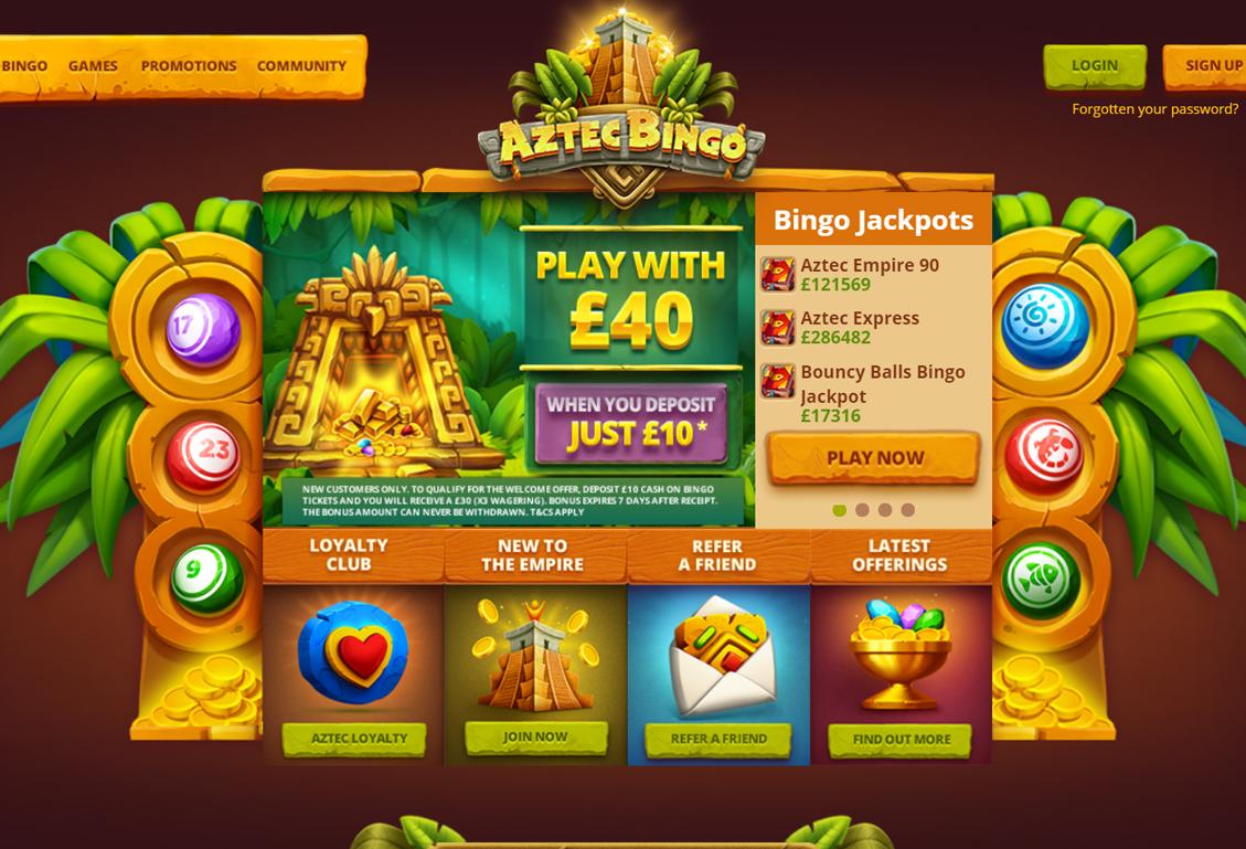 Aztec Bingo Screenshot
